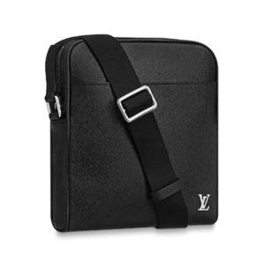 Louis Vuitton LV Men Alex Messenger BB Taiga Cowhide Leather