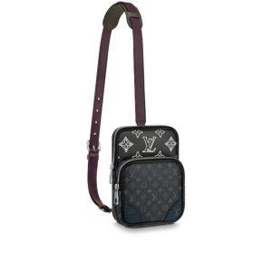 Louis Vuitton LV Men Amazone Sling Bag Monogram Eclipse Canvas