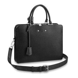 Louis Vuitton LV Men Armand Briefcase Taurillon Leather-Black