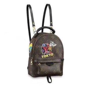 Louis Vuitton LV Unisex Backpack Bag in Monogram Canvas-Brown