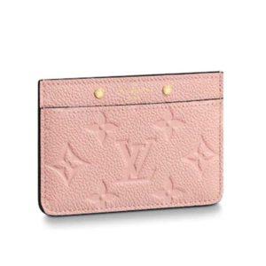 Louis Vuitton LV Unisex Card Holder Monogram Empreinte Leather-Pink