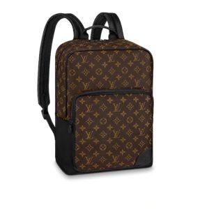 Louis Vuitton LV Unisex Dean Backpack Monogram Macassar Coated Canvas
