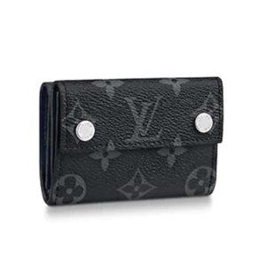 Louis Vuitton LV Unisex Discovery Compact Wallet Monogram Eclipse Coated Canvas