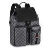 Louis Vuitton LV Unisex Utility Backpack Damier Graphite Canvas-Grey