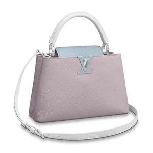 Louis Vuitton LV Women Capucines PM Handbag Taurillon Leather-Purple