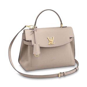 Louis Vuitton LV Women Lockme Ever MM Soft Grained Calfskin-Sandy