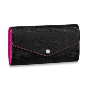 Louis Vuitton LV Women Sarah Wallet in Epi Leather-Black