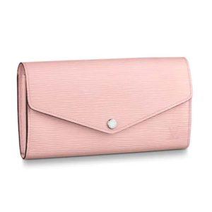 Louis Vuitton LV Women Sarah Wallet in Epi Leather-Pink