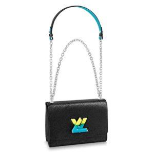 Louis Vuitton LV Women Twist MM Handbag Epi Grained Leather