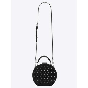Saint Laurent YSL Women Mica Box Leather All Over Studs