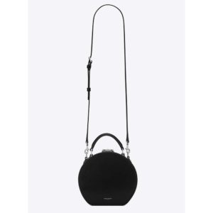 Saint Laurent YSL Women Mica Box in Smooth Leather-Black