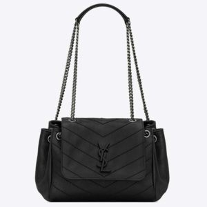 Saint Laurent YSL Women Nolita Small Bag Vintage Leather-Black