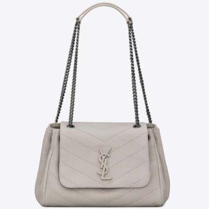 Saint Laurent YSL Women Nolita Small Bag Vintage Leather-White