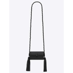 Saint Laurent YSL Women Opium Box in Smooth Leather-Black
