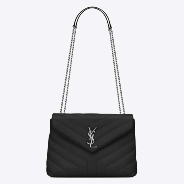 Saint Laurent YSL Women Small Loulou Bag Y Quilted Leather-Black