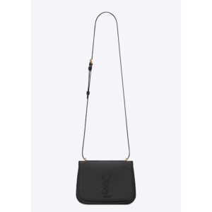 Saint Laurent YSL Women Spontini Small Satchel in Smooth Leather-Black