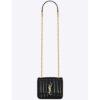 Saint Laurent YSL Women Vicky Small Matelasse Patent Leather-Black