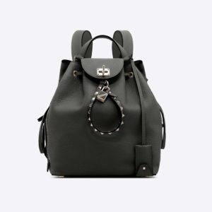 Valentino Garavani Twiny Backpack in Grained Lagun Calfskin-Black