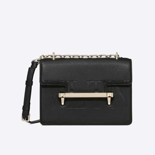 Valentino Women Medium VLTN Uptown Shoulder Bag-Black