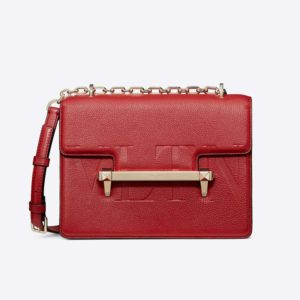 Valentino Women Medium VLTN Uptown Shoulder Bag-Red