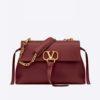 Valentino Women Medium Vring Smooth Calfskin Chain Bag-Red