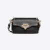 Valentino Women Mini Rockstud Cross Body Bag-Black