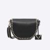 Valentino Women Rockstud Crossbody Bag in Calfskin Leather-Black