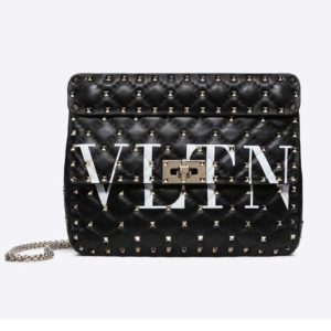 Valentino Women Rockstud Spike It Medium Chain Bag-Black