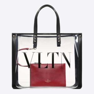 Valentino Women Small VLTN Plexy Shopping Bag