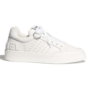Chanel Women Sneakers Calfskin White