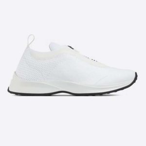 Dior Unisex B25 Low-Top Sneaker White Neoprene and Mesh