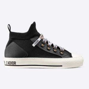 Dior Unisex Walk'n'Dior Sneaker Black Technical Mesh Leather Inserts