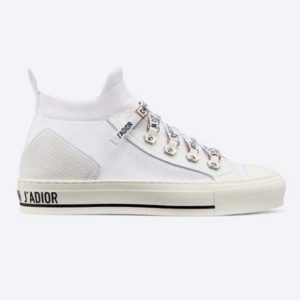 Dior Unisex Walk'n'Dior Sneaker White Technical Mesh Leather Inserts