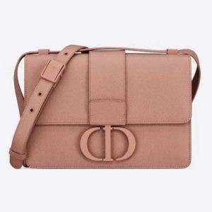 Dior Women 30 Montaigne Bag in Ultramatte Grained Calfskin-Pink