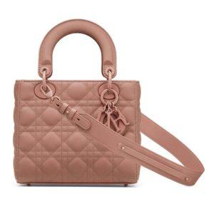 Dior Women Lady Dior My ABCDior Bag Ultramatte Cannage Calfskin-Pink