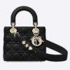 Dior Women My ABCDior Lady Dior Bag Cannage Lambskin-Black