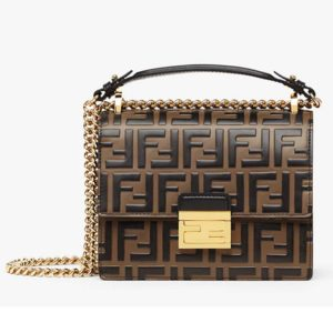 Fendi Women Kan U Small Brown Leather Mini-Bag FF
