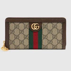 Gucci GG Unisex Ophidia GG Zip Around Wallet Supreme Canvas