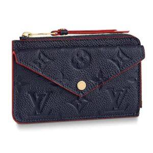 Louis Vuitton LV Unisex Card Holder Recto Verso Monogram Empreinte Leather-Navy