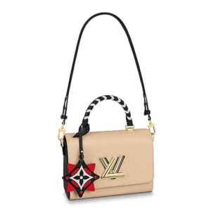 Louis Vuitton LV Women Crafty Twist MM Handbag Grained Epi-Sandy