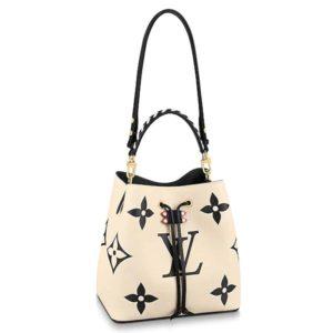 Louis Vuitton LV Women LV Crafty NéoNoé MM Embossed Leather-White