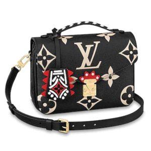 Louis Vuitton LV Women LV Crafty Pochette Métis Embossed Leather-Black