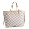 Louis Vuitton LV Women Neverfull GM Tote Damier Azur Canvas