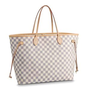 Louis Vuitton LV Women Neverfull GM Tote Damier Azur Canvas