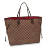 Louis Vuitton LV Women Neverfull GM Tote Damier Ebene Canvas