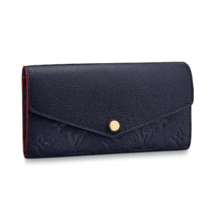 Louis Vuitton LV Women Sarah Wallet Monogram Empreinte Leather-Navy