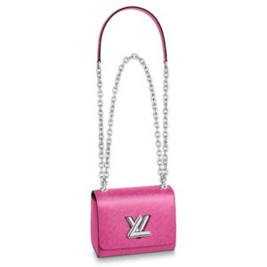 Louis Vuitton LV Women Twist Mini Handbag Epi Grained Leather-Rose