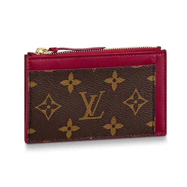 Louis Vuitton LV Women Zipped Card Holder Monogram Coated Canvas