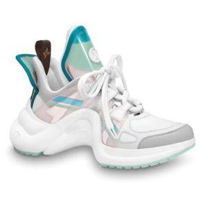 Louis Vuitton Women LV Archlight Sneaker Leather Technical Fabrics-Aqua