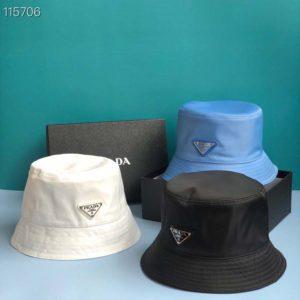 Prada Unisex Nylon Bucket Hat